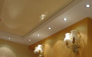 Классический натяжной потолок бежевый: 6 разновидностей