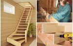 Удобная лестница в деревянном доме своими руками