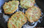Оригинальные оладьи из кабачков с колбасой