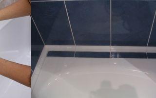 Плинтус для ванной: 6 этапов установки