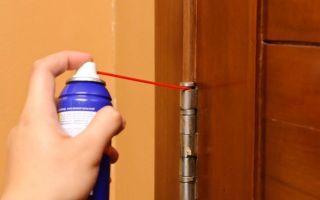Как смазать дверные петли, не снимая дверь: 2 основных способа