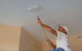 Правильная отделка потолочной поверхности: как наносить грунтовку на потолок