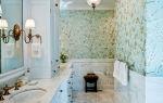Влагостойкие обои для ванной комнаты: варианты дизайна и критерии выбора