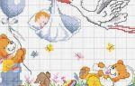 Схема вышивки крестом метрики для новорожденных: 5 популярных мотивов
