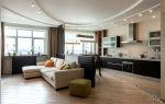 Вместительная кухня-гостиная 40 кв. м: дизайн и 30 фото