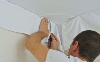 Потолок натяжной: установка и 3 вида крепления полотна
