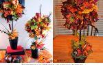 Уникальный топиарий из осенних листьев: золотой декор для интерьера