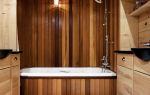 Отделка ванной комнаты деревом: безумство или смелый дизайнерский ход